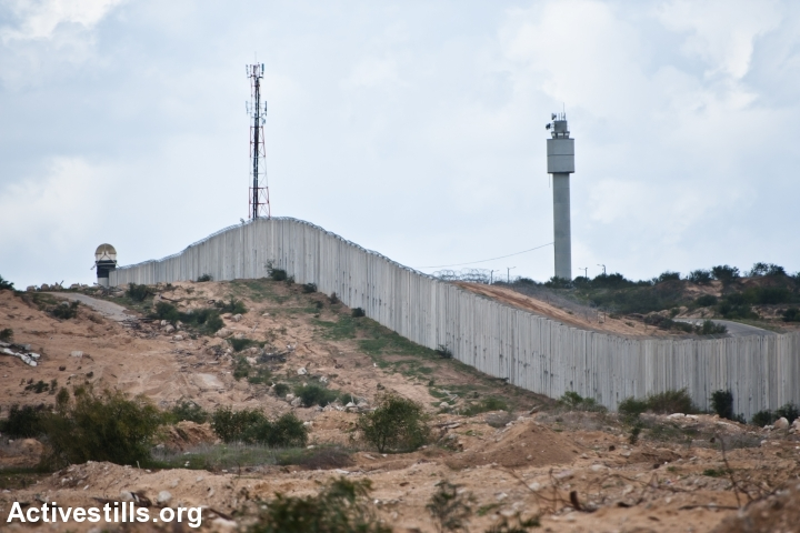 The border between Gaza and Israel. (Activestills.org)