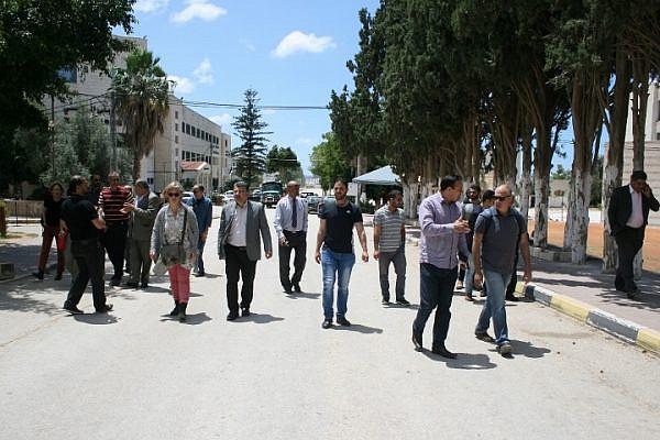 Delegation of Israeli academics visiting Kadoorie University (photo: Haggai Matar