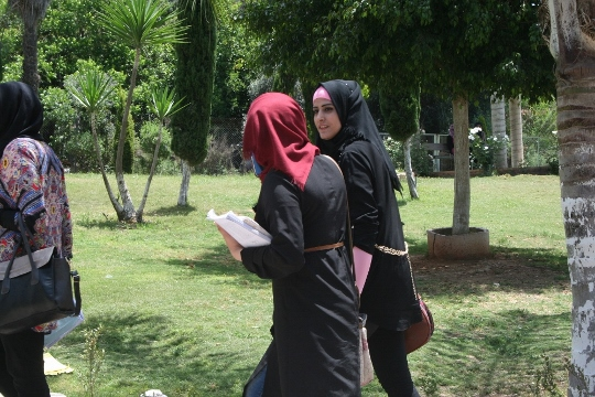 Palestinian students on campus at Kadoorie University (photo: Haggai Matar)