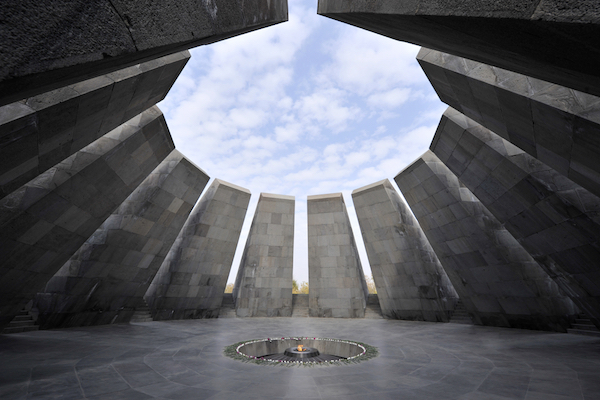 Tsitsernakaberd, a memorial dedicated to the victims of the Armenian Genocide in 1915, Yerevan, Armenia. (Shutterstock.com)