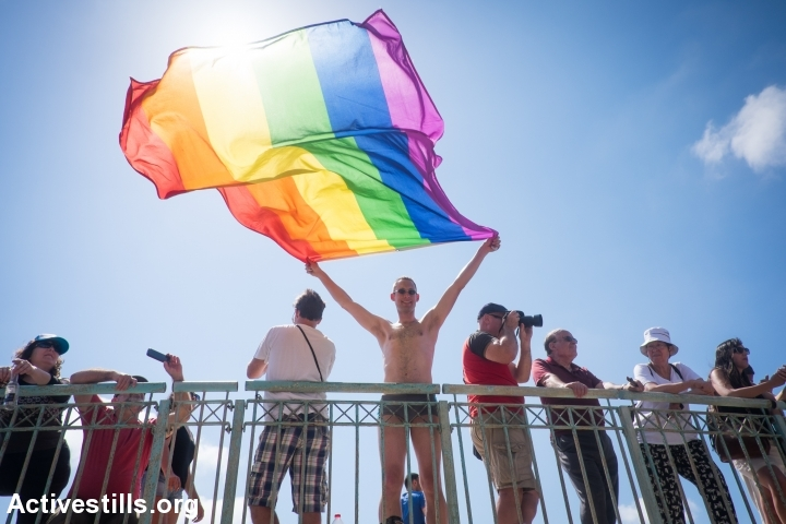 Israelis take part in the annual pride parade in Tel Aviv, June 12, 2015. (photo: Oren Ziv/Activestills.org)