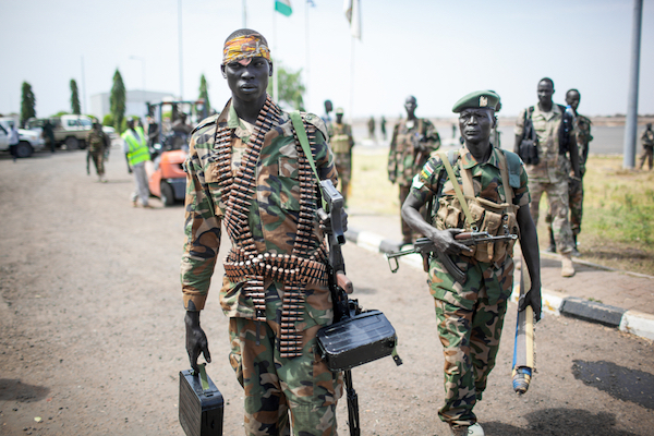 Soldiers in South Sudan's army, March 2, 2014. (Punghi / Shutterstock.com)