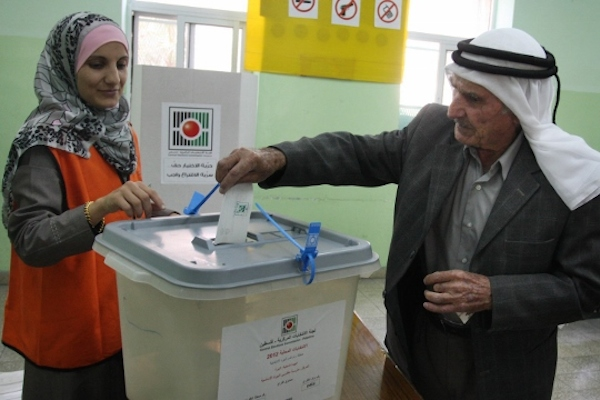 Local elections in the West Bank in 2012. (Issam Rimawi/Flash90)