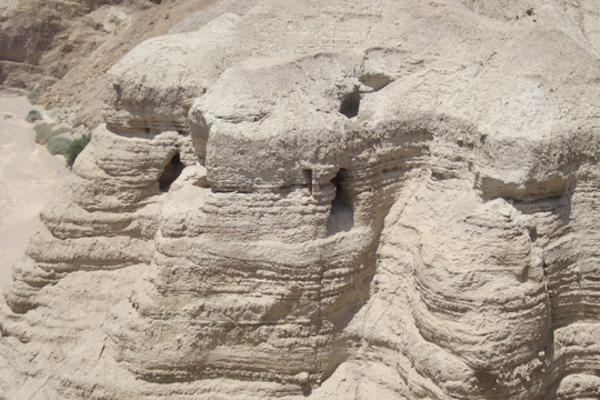 The Qumran Caves. (Bassam Almohor)