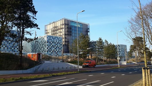 The new headquarters of the International Criminal Court in The Hague. (Wikimedia Commons).