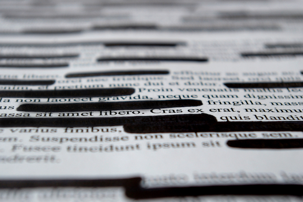 A redacted document (Illustrative photo by Shutterstock.com)