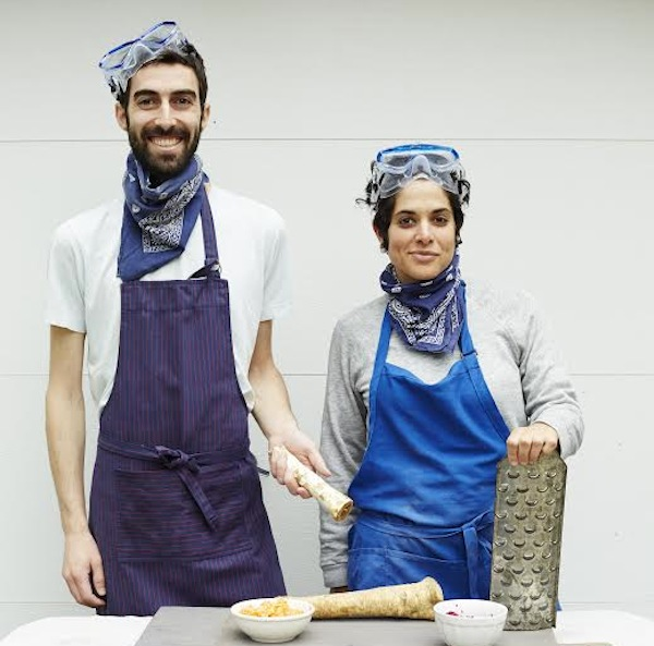 Jeffrey Yoskowitz and Liz Alpern, authors of a new cookbook called The Gefilte Manifesto: New Recipes for Old World Jewish Foods.