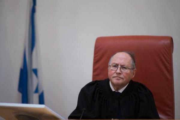 Supreme Court Justice Elyakim Rubinstein. (Yonatan Sindel/Flash90)