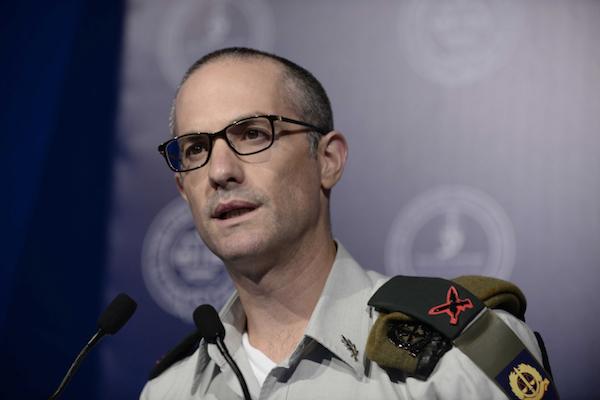 Current IDF Military Advocate General Brig.-Gen. Sharon Afek, Tel Aviv, August 30, 2016. (Tomer Neuberg/Flash90)