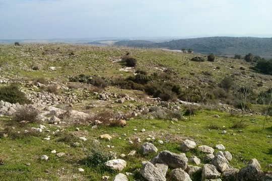 Decades after the ethnic cleansing of al-Sindiyana, all that remains are stones scattered on the Carmel mountainside. (Noam Rotem)