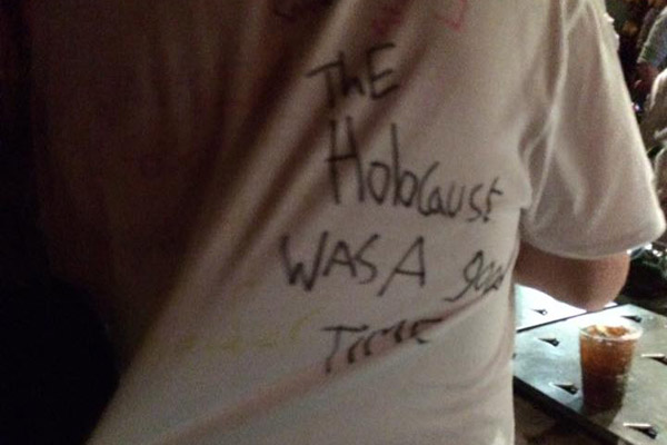 Holocaust shirt Exeter University