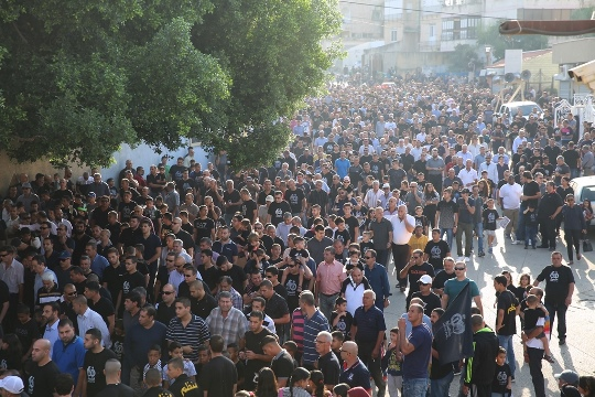 Thousands take part in the march to commemorate the 60th anniversary of the Kafr Qasim, October 29, 2016. (photo: Joint List)