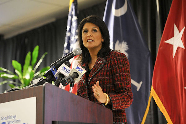 South Carolina Gov. Nikki Haley. (File photo by Staff Sgt. Jorge Intriago/US Army)