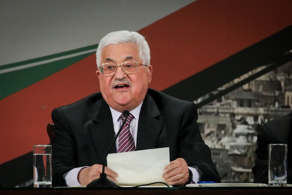 Palestinian President Mahmoud Abbas delivers a speech on the second day of the seventh Fatah Congress, November 30, 2016, Ramallah. (Flash90)