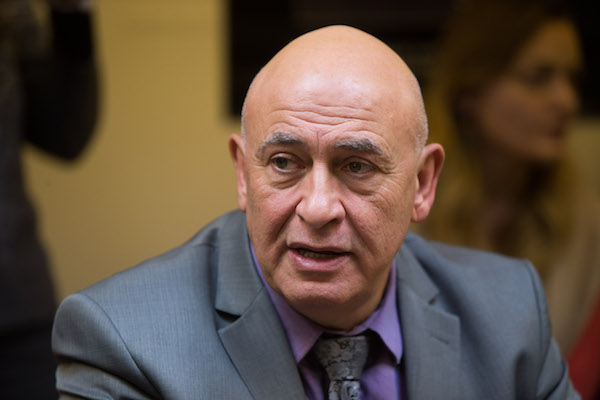 Joint List MK Basel Ghattas seen at the weekly Joint List meeting at the Knesset, Jerusalem, February 8, 2016. (Yonatan Sindel/Flash90)