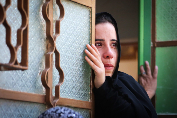 Relatives and friends mourn during the funeral of Saad Dawabsha, the father of a Palestinian family killed when their home was firebombed by Jewish extremists, Duma, West Bank on August 8, 2015. (Flash90)
