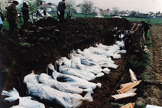 A mass grave in Bosnia. (ICTY)