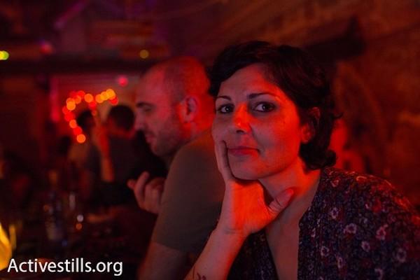 Maysaloun Hamoud at Anna Loulou, Jaffa. (Oren Ziv/Activestills)