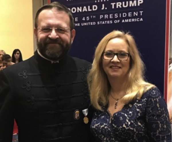 Sebastian Gorka seen wearing a medal from the Vitzei Rend, a Hungarian group listed by the State Department as having collaborated with the Nazis during World War II.