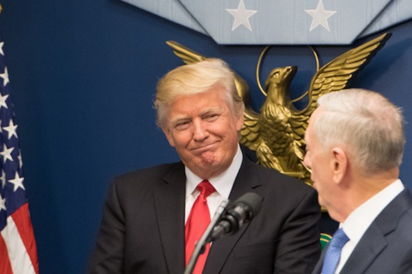 President Donald Trump. (Jette Carr/Department of Homeland Security)