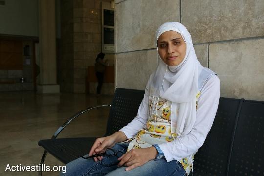 Dareen Tatour at the Nazareth Magistrates Court. (Oren Ziv/Activestills.org)