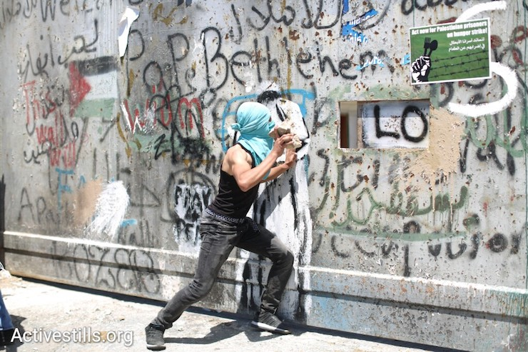 Protest in Bethlehem to mark Palestinian Prisoners' Day, West Bank, April 17, 2017. (Activestills.org)