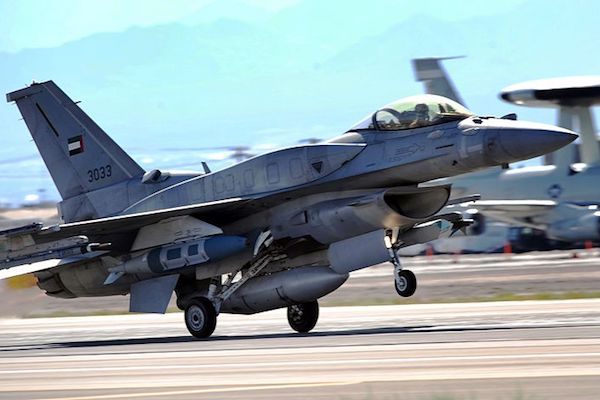 A United Arab Emirates air force F-16 aircraft takes off for a training mission during Red Flag in Nevada, August 26, 2009. Both the UAE and Israel took part in the 2016 Red Flag joint military exercise. (Michael R. Holzwort, U.S. Air Force/CC 2.0)