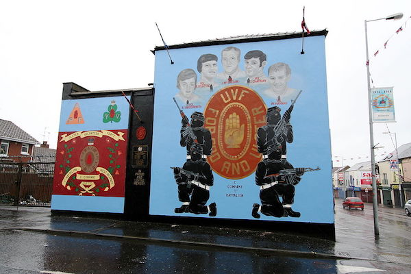 Ulster Volunteer Force mural, Belfast, Northern Ireland, August 5, 2007. (Sitomon/CC BY-SA 2.0)