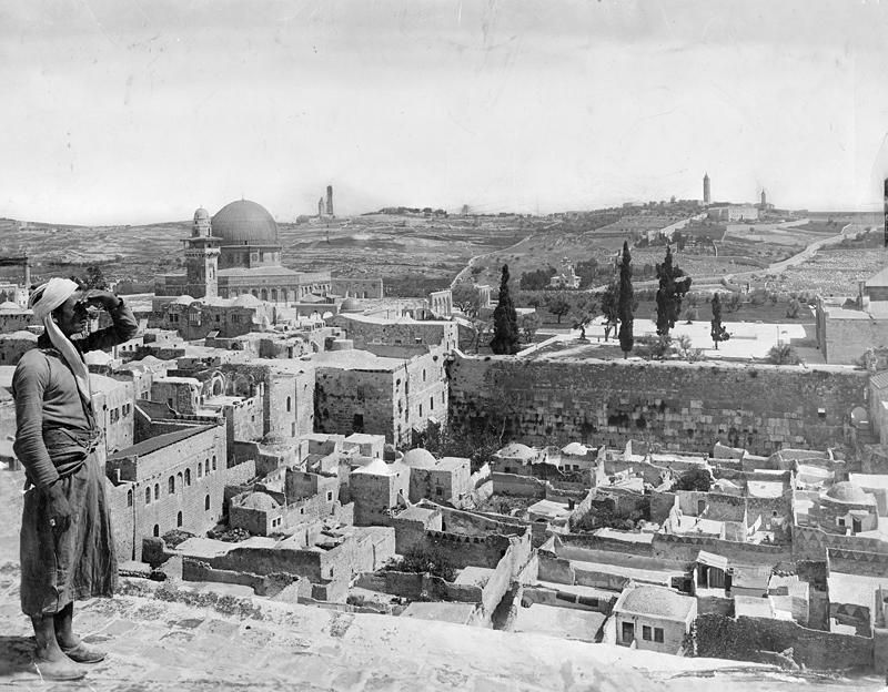 Jerusalem's Mughrabi Quarter, 1917. (New York Times photo archive)