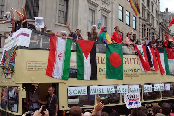 Muslim bus at the London Pride parade, July 2, 2011. (Fæ / CC 3.0)