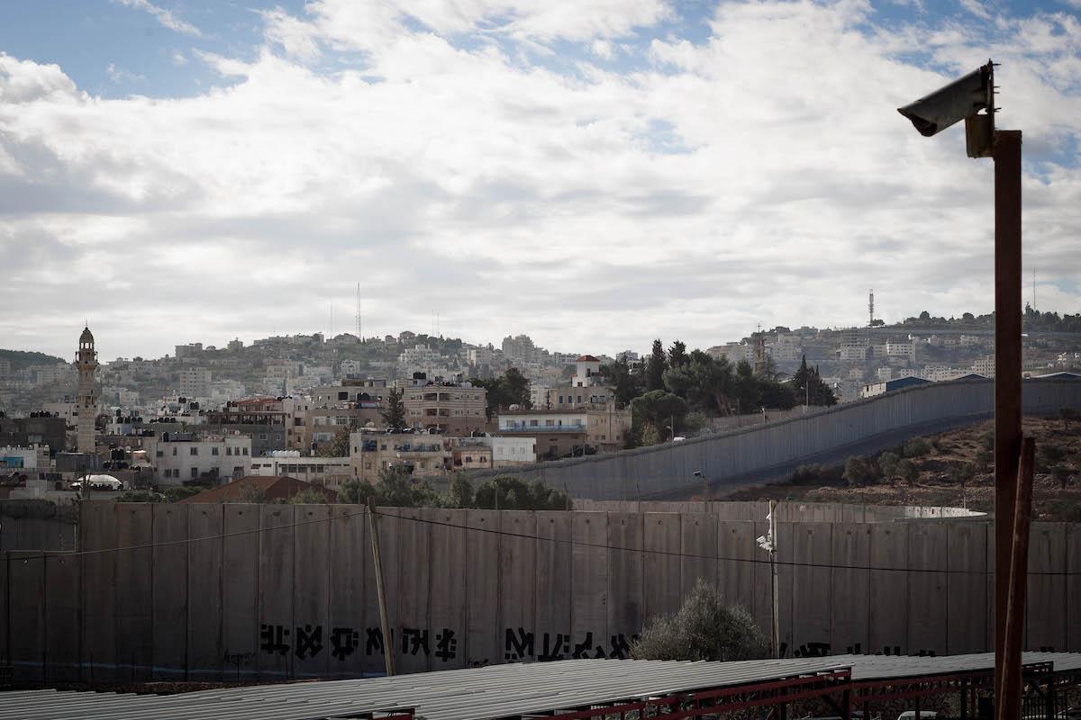 Israel's separation wall in the West Bank. (Sebi Berens/Flash90)