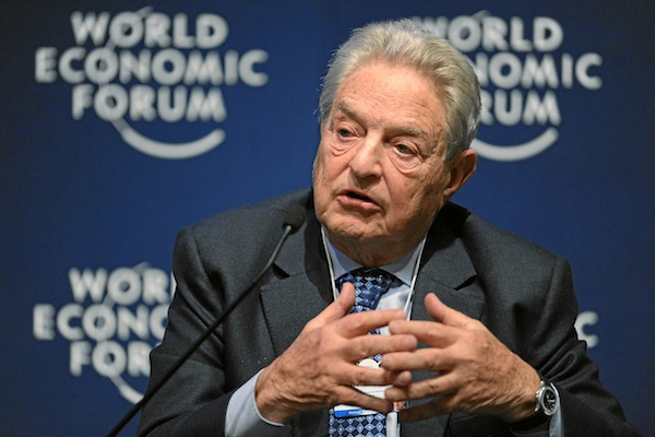 George Soros, Chairman, Soros Fund Management, USA, is captured during the session 'Redesigning the International Monetary System: A Davos Debate' at the Annual Meeting 2011 of the World Economic Forum in Davos, Switzerland, January 27, 2011. (World Economic Forum)