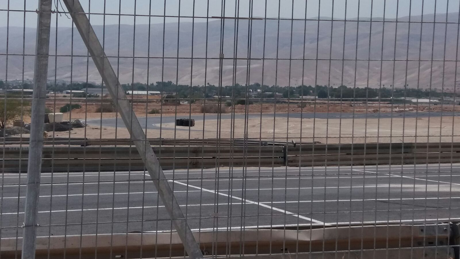 The newly paved section of the race track, a portion of which is inside an IDF live fire zone, August 2017. (Photo by Dror Etkes)
