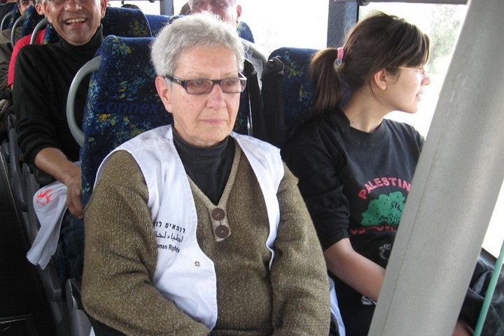 Marton rides along with and volunteers on the way a Physicians for Human Rights trip to the West Bank. (Physicians for Human Rights)
