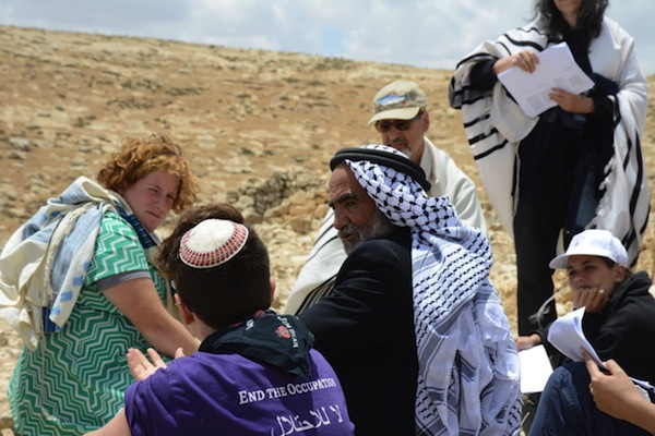 American Jews from the Center for Jewish Nonviolence meet with Palestinians in the West Bank. (Gili Getz)