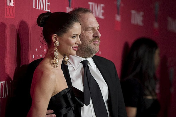 Harvey Weinstein with his ex-wife, Georgina Chapman. On October 10, 2017, Chapman announced she was leaving Weinstein after numerous reports by actresses of alleged sexual harassment and sexual assault. (Martyna Borkowski/Rubenstein CC BY-NC 2.0)