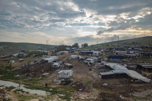 The Bedouin village of Khan al-Ahmar, West Bank. (Faiz Abu-Rmeleh/Activestills.org)