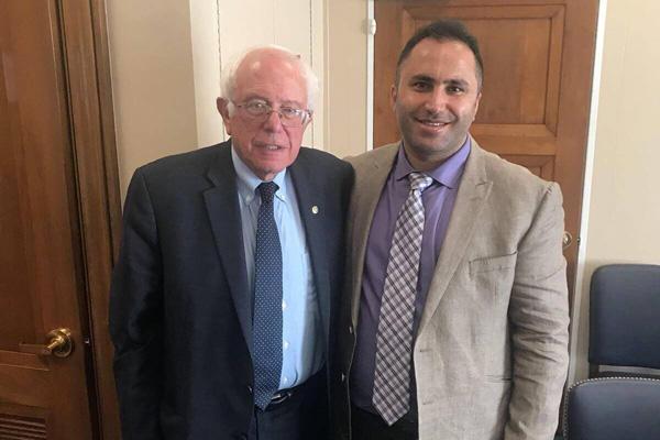 Senator Bernie Sanders meets with Issa Amro in Washington D.C.