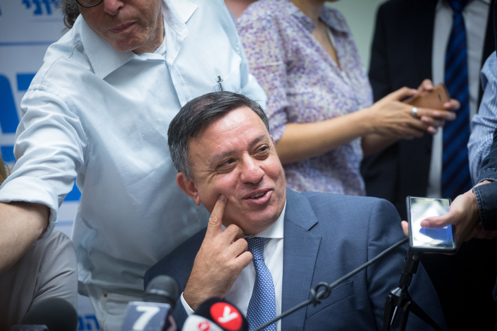 Zionist Union party leader Avi Gabbay seen at the Knesset, October 23, 2017. (Miriam Alster/Flash90)