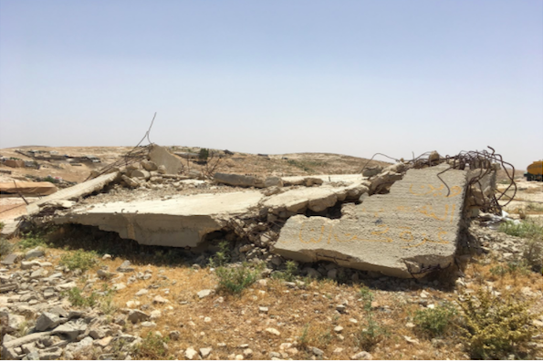 A building destroyed by the Israeli Civil Administration in the South Hebron Hills, West Bank. (Elias Newman))
