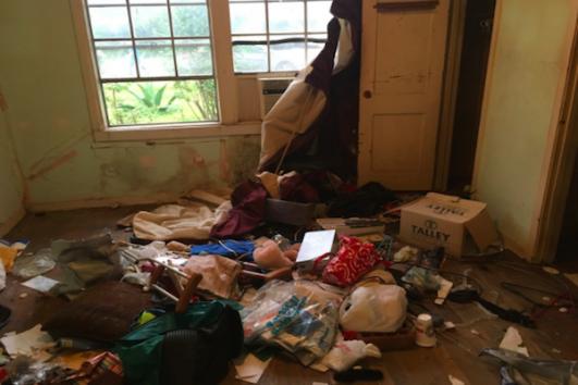 Inside a Houston home flooded by Hurricane Harvey (Elias Newman)