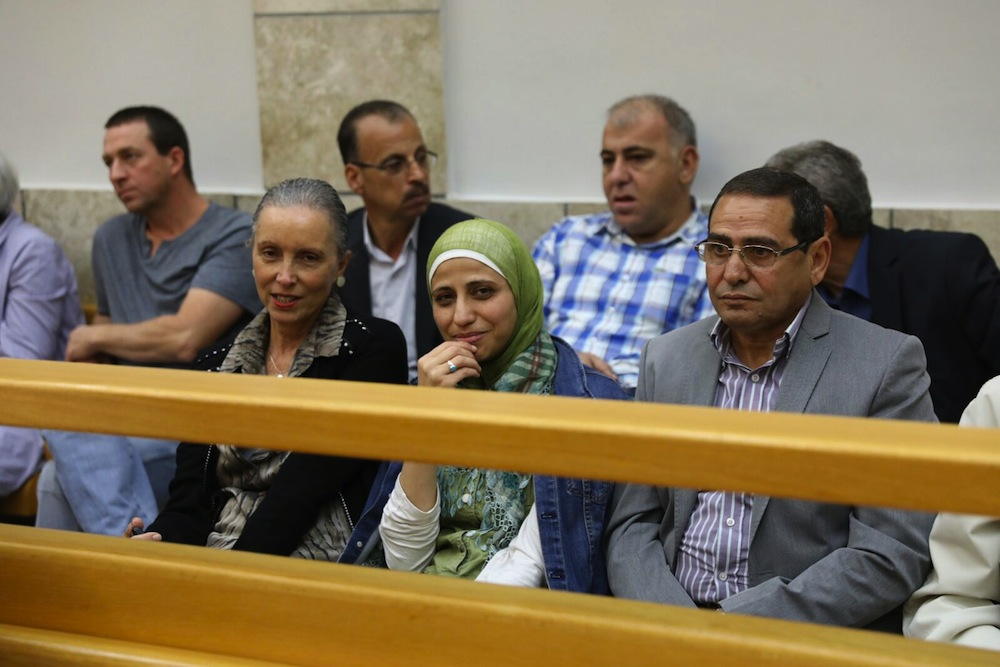 Palestinian poet Dareen Tatour seen in the Nazareth court, December 20th, 2017. (Oren Ziv/Activestills.org)