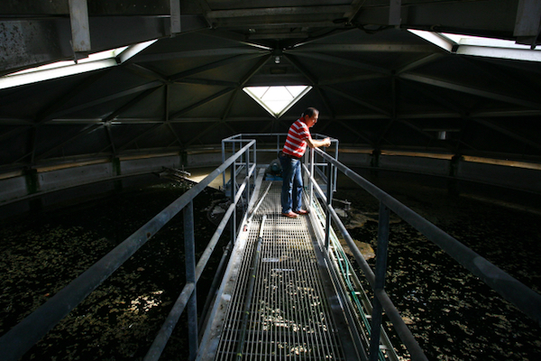 Illustrative photo of an Israeli waste treatment facility. (Chen Leopold/Flash90)