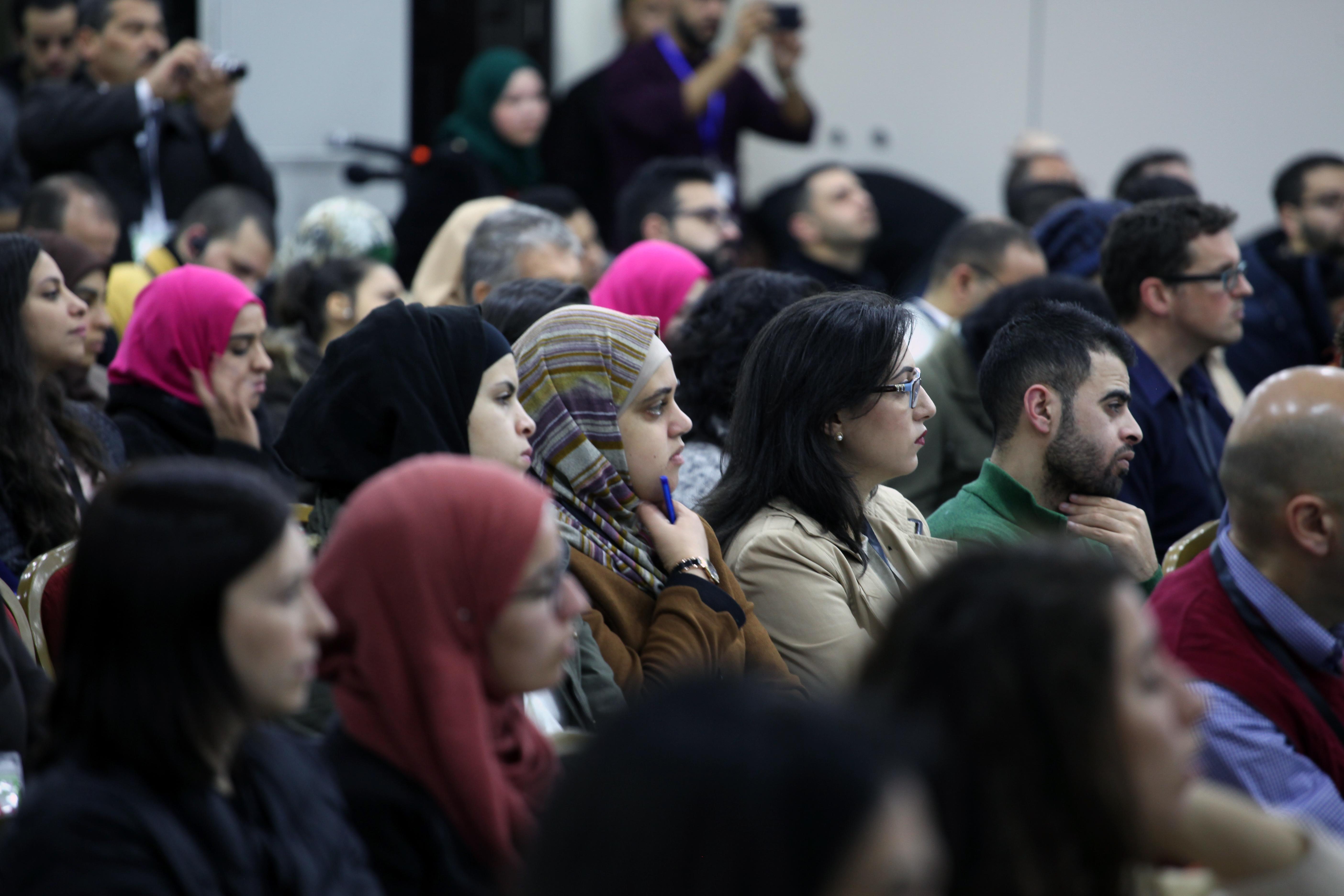 Audience members at 7amleh's Palestine Digital Activism Forum, Ramallah, West Bank, January 18, 2018. (Courtesy of 7amleh)