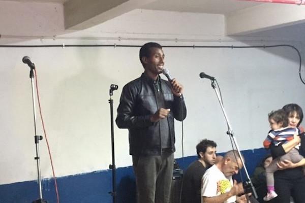 """I refuse to be a slave in my homeland,"" Jonny, from Eritrea, said. (Haggai Matar)"