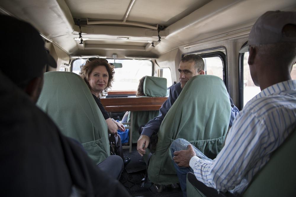 Meretz MKs Michal Rozin (L) and Mossi Raz in Kigali, Rwanda. (Oren Ziv/Activestills.org)