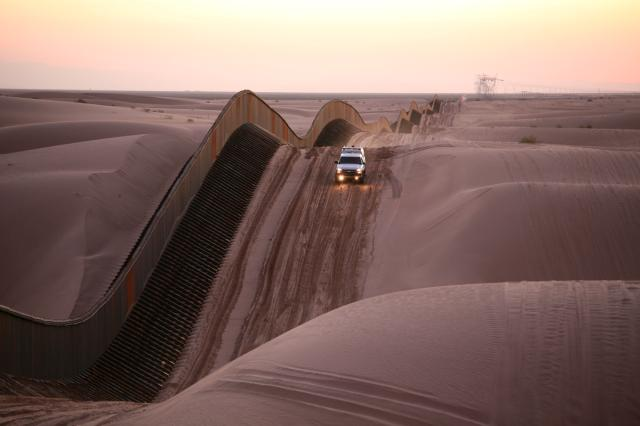 United States Border Patrol at Algodones Sand Dunes, on the border of California and Mexico. (Department of Homeland Security)