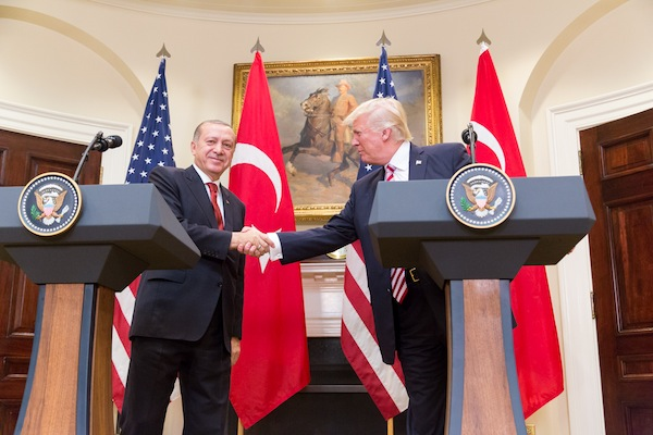 President Trump and President Erdoğan give a joint statement in the Roosevelt Room at the White House, Tuesday, May 16, 2017 in Washington, D.C. (White House photo)