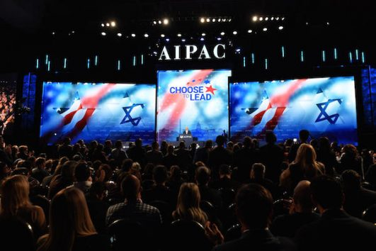 Prime Minister Benjamin Netanyahu speaks at the AIPAC Conference in Washington DC, US, on March 6, 2018 (Haim Zach / GPO)