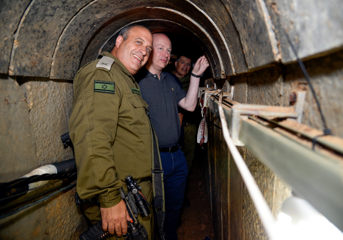 White House envoy Jason Greenblatt seen during a visit with the IDF to a tunnel built by Hamas on the Israel-Gaza border, August 30, 2017. (David Azagury/U.S. Embassy Tel Aviv)